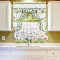"Colorful Butterfly Printed Cottage Set (36""x57"") Green"