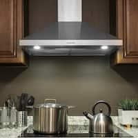 "AKDY RH0366 30"" Wall Mount Stainless Steel Push Panel Kitchen Range Hood Cooking Fan"