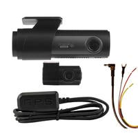 LG Innotek's LGD323 128/120 Degree Front & Rear Dashcam with GPS Antenna & Battery Protecting Hardwire Kit. 128GB