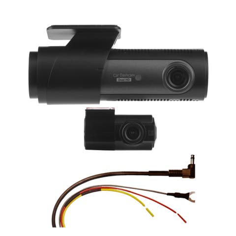 LG Innotek's LGD323 128/120 Degree Front & Rear Dashcam with Automatic Recorder & Hardwire Kit 128GB