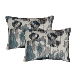 Sherry Kline Argasio Velvet Steel Boudoir Decorative Pillows(Set of 2)
