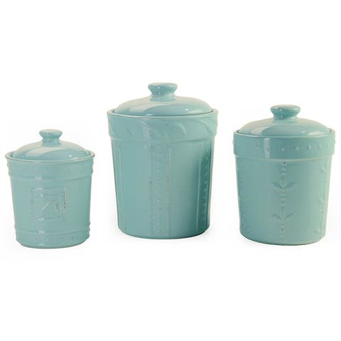 Signature Housewares Sorrento Stoneware Set of Three Canisters