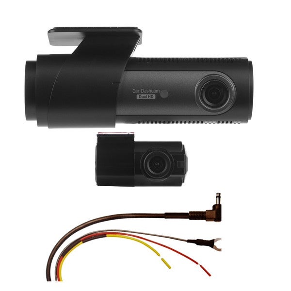 LG Innotek's LGD323 128/120 Degree Front & Rear Dashcam with Automatic Recorder & Hardwire Kit 64GB