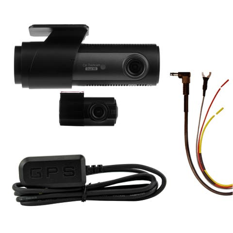 LG Innotek's LGD323 128/120 Degree Front & Rear Dashcam with Battery Protecting Hardwire Kit & GPS Antenna. 32GB