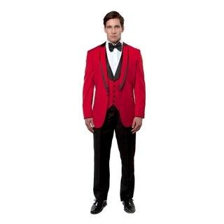 Mens Tuxedo Peak Shawl Lapel with Satin Trim Slim Fit Tuxedo Suit Set