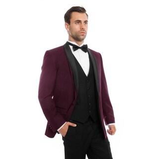 Mens Tuxedo Shawl Lapel Slim Fit Tuxedo Suit Set