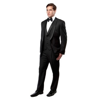 Mens Tuxedo Peak Shawl Lapel with Satin Trim Slim Fit Tuxedo Suit Set
