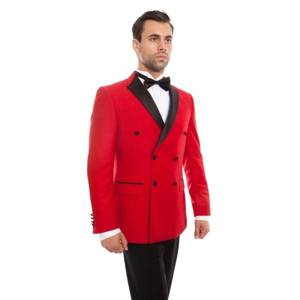 Mens Tuxedo Double Breasted Slim Fit Tuxedo Suit Set