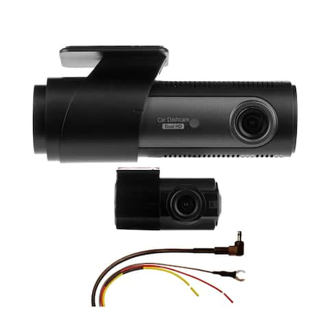 LG Innotek's LGD323 128/120 Degree Front & Rear Dashcam with Automatic Recorder & Hardwire Kit 32GB