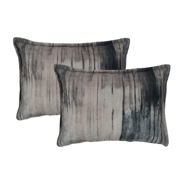 Sherry Kline Ambiance Velvet Steel Boudoir Decorative Pillows(Setof2)