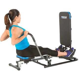 PROGEAR 750 Rower with Additional Multi Exercise Workout Capability - Black/Blue