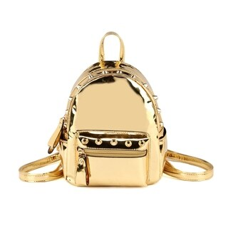 Hearty Trendy Shiny Metallic Mini Studded Backpack