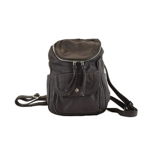 Hearty Trendy Washed Faux Leather Fashion Mini Backpack