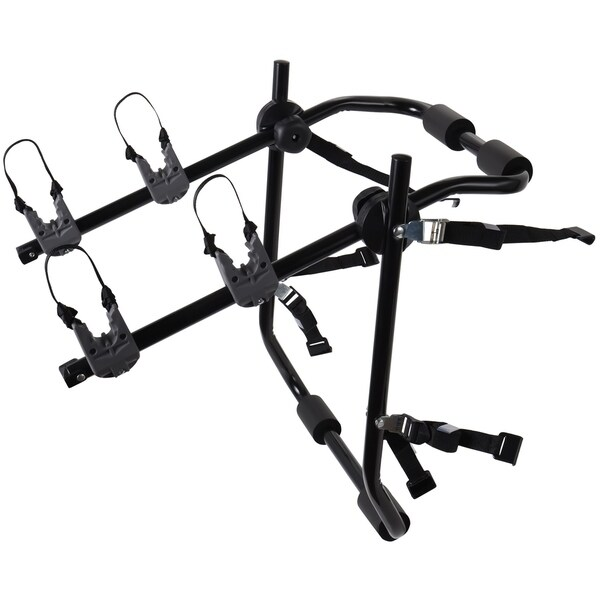 OxGord Two Bike Trunk Mount Rack Carrier for Most Sedan Cars