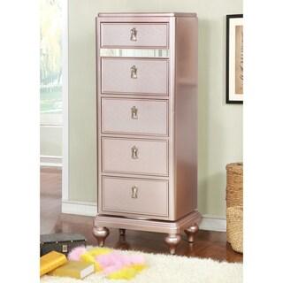 Furniture of America Ayeda I Transitional Glam 5-drawer Swivel Chest