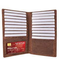 AFONiE Distressed RFID Long Credit Card Wallet