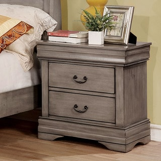 Furniture of America Anna Transitional 2-drawer Nightstand
