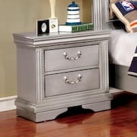 Furniture of America Brummel Traditional Silver 2-drawer Nightstand