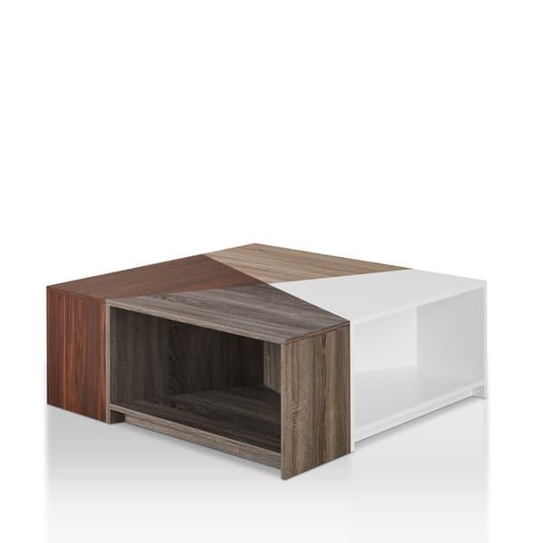Shop Deron Contemporary Light Oak Modular Coffee Table By