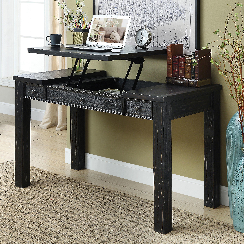 Shop Furniture Of America Lon Rustic Black 52 Inch Solid Wood