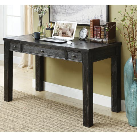 Furniture of America Tammy Rustic Antique Black Lift-Top Writing Desk