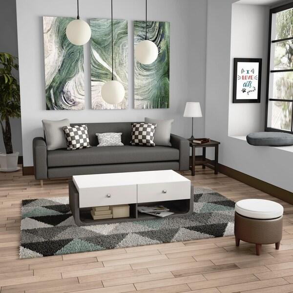 Shop Furniture Of America Zilo Modern Distressed Grey