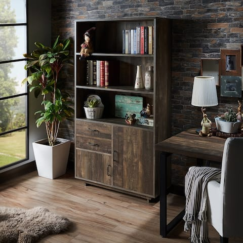 Garuga Country Reclaimed Oak Multi-Storage Bookshelf by FOA