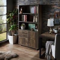 Garuga Country Reclaimed Oak Multi-Storage Bookshelf by FOA