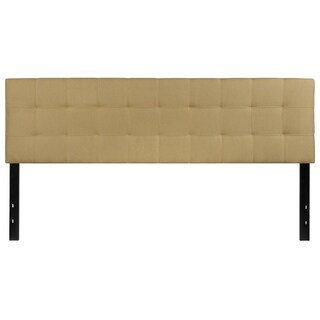 Princeton King Size Green Fabric Upholstered Headboard