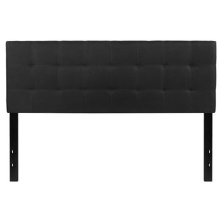 Princeton Queen Size Black Fabric Upholstered Headboard
