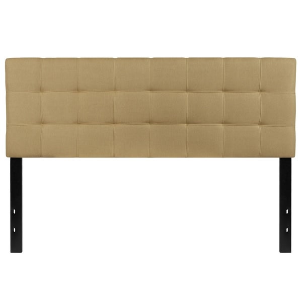 Princeton Queen Size Green Fabric Upholstered Headboard