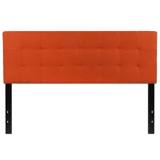 Princeton Queen Size Orange Fabric Upholstered Headboard
