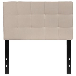 Princeton Twin Size Beige Fabric Upholstered Headboard