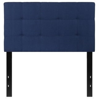 Princeton Twin Size Blue Fabric Upholstered Headboard