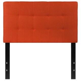 Princeton Twin Size Orange Fabric Upholstered Headboard
