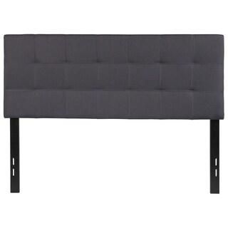 Princeton Full Size Dark Grey Fabric Upholstered Headboard
