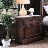 Zion Transitional Brown Cherry 2-drawer Nightstand by FOA