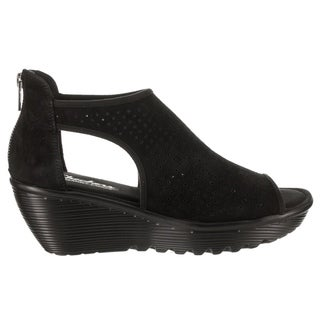Women's Skechers Parallel Beehive Wedge Sandal Black