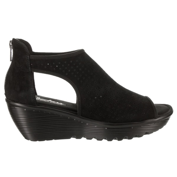 44d7508b0fdf Shop Women s Skechers Parallel Beehive Wedge Sandal Black - Free Shipping  Today - Overstock - 19981697