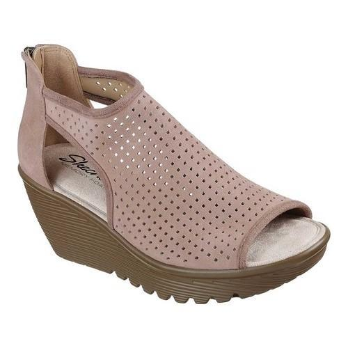b8296ba0ea7 Shop Women s Skechers Parallel Beehive Wedge Sandal Mushroom - Free  Shipping Today - Overstock - 19981698