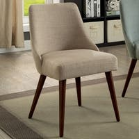 Furniture of America Lenora Mid-Century Modern Barrel Chair (Set of 2)