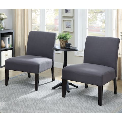 Furniture of America Tina Grey 3-piece Accent Table and Chair Set