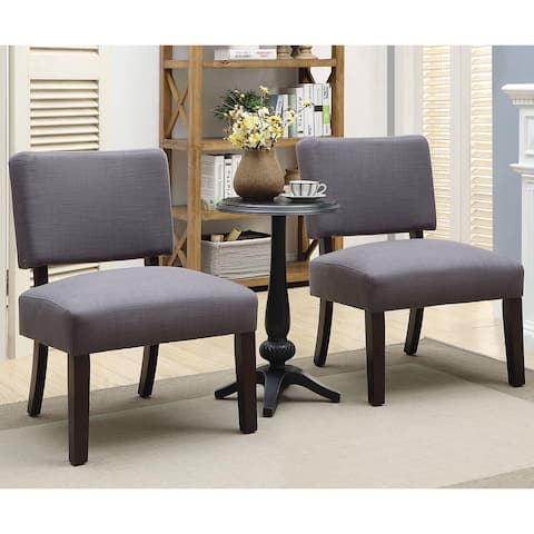 Furniture of America Kyer Transitional Grey 3-piece Table w/ Chair Set