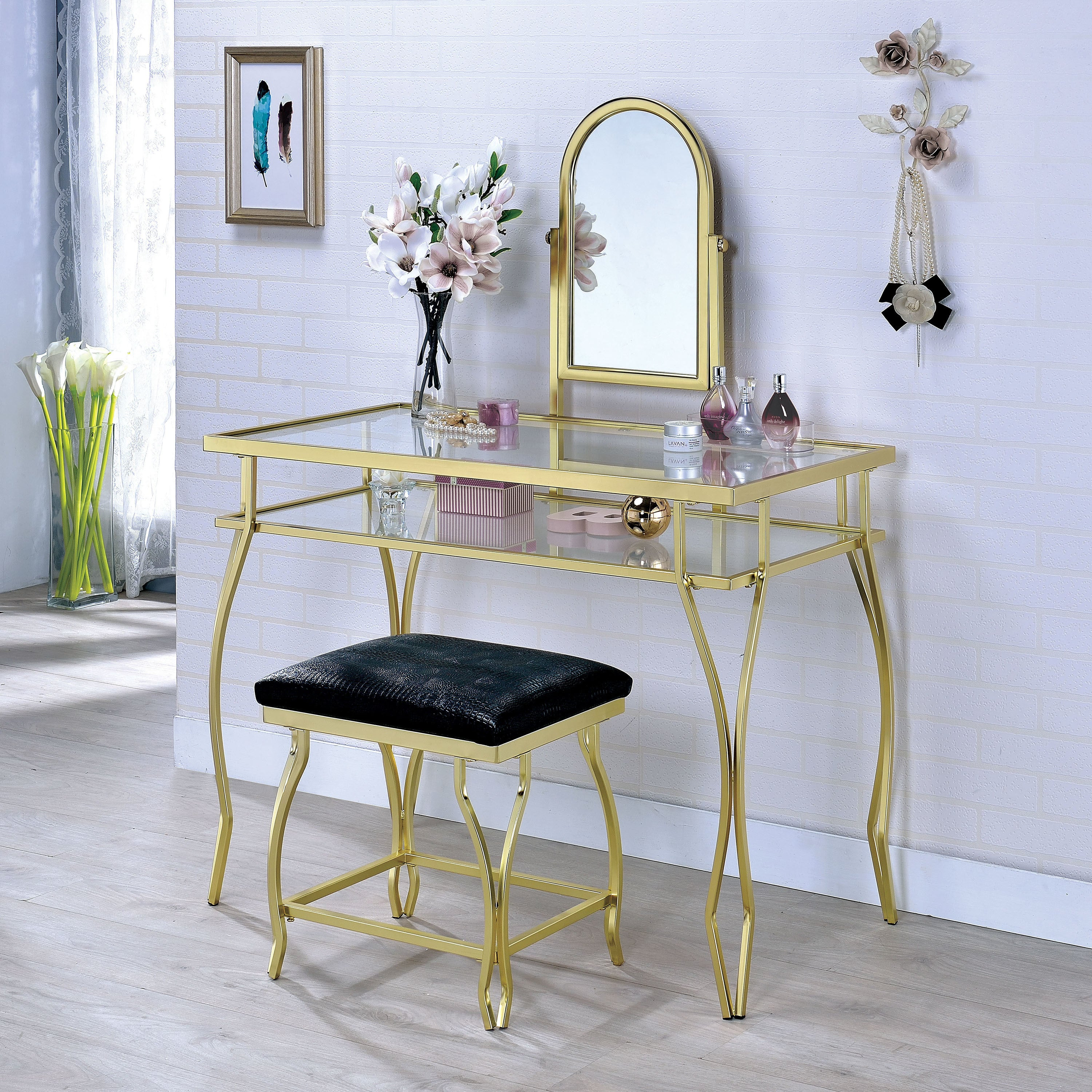 3 Piece Vanity Set.Chappelle Glam 3 Piece Vanity Set By Foa