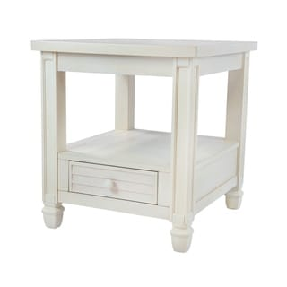 Furniture of America Fily Transitional Solid Wood 1-drawer End Table