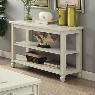 Furniture of America Fily Transitional Solid Wood 2-shelf Sofa Table