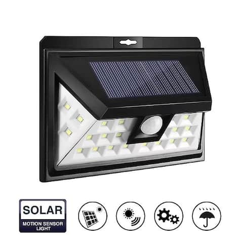 24 LEDs Solar Powered Wireless Waterproof Motion Sensor Security Lights for Home Garden Hallway
