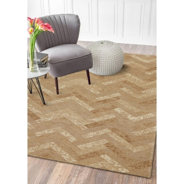 LR Home Jewel Natural Sahara Chevron Area Rug ( 5' x 7' ) - 5' x 7'/Surplus