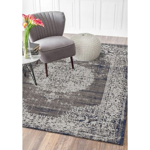 LR Home Jewel Natural Oriental Imperial Area Rug ( 5' x 7' ) - 5' x 7'