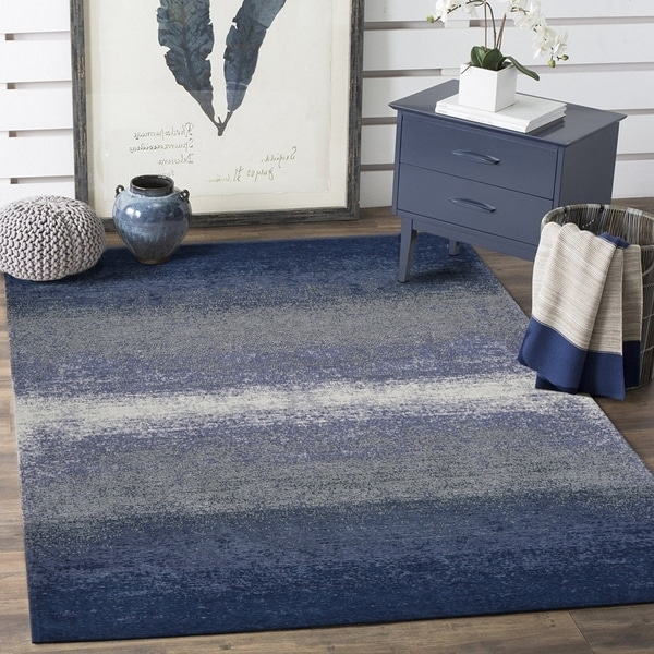 Shop Lr Home Jewel Blue Abstract Ombre Area Rug 7 8 Quot X 9